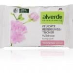 alverde NATURKOSMETIK Feuchte Reinigungstücher Wildrose